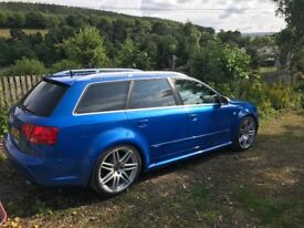 B7 RS4 Avant Sprint Blue. This car has style, class and the performance to match the looks.