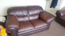 Leather sofa 3 seater and 2 seater good condition £300 or make reasonable offer