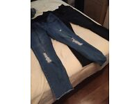 2 x new look maternity ripped skinny jeans size 12
