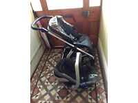 Mamas&Papas Sola buggy with car seat, removable seat, rain cover. All upholstery in good condition.