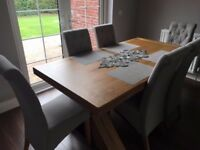 High quality dining table and 6 chairs