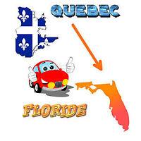 Transport chauffeur privé auto voiture Québec Floride Snowbirds