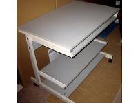 Metal Computer Desk, two sliding shelves,