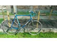 Blue holdsworth road bike