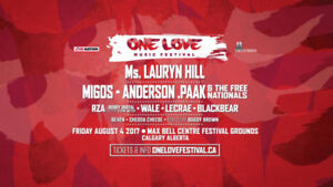 2 One Love General Admission Tickets