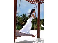 Vanilla SPOSA model 1445 designer Wedding Dress