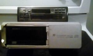 Sony tape deck and 10 disc changer