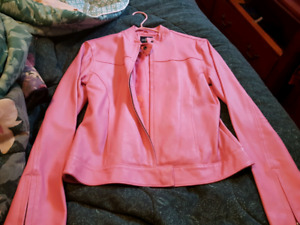 Brand new pink leather jacket