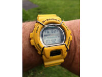 CASIO G SHOCK FOX FIRE DW6630b - RARE YELLOW
