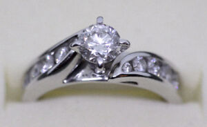 1.18 Carat Diamond Engagement Ring (14k White Gold)