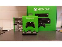 Xbox ONE - MINT with BOX x2 Controllers x12 Games & ALL original cables **Read ad before enquiring!