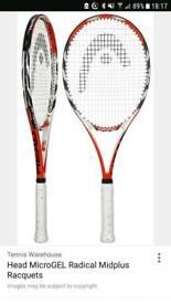 2 Head Radical Microgel Midplus tennis racket (size L4)