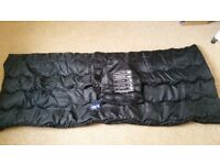 Brand new single black sleeping bag with tags