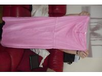 "SIZE 10 ""NEXT"" PINK STRAPLESS LONG DRESS PULL TIE WAIST"