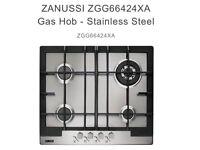 Brand New ZANUSSI ZGG66424XA Gas Hob -Stainless Steel