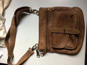 Roots genuine leather purse and sack