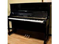 Yamaha U1 upright piano gloss black