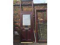 Rosewood double glazed door and frame