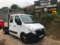 2015 65 Vauxhall Movano 2.3CDTI ( 125ps ) HD DRW L3H1 R3500 CAGED CREWCAB TIPPER