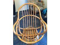 Wicker Swivel/Rocker chair