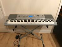 Yamaha DGX220 keyboard (inc. stand and carry case)