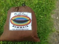Silk hammock as new, with carry bag
