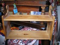 SOLID PINE PLATE SHELF