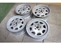 "Genuine SSR Strahl 17"" Alloy wheels 5x114.3 Jdm alloys RX7 Supra S14 Skyline 200sx Mr2"
