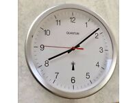 RADIO CONTROLLED WALL CLOCK, KITCHEN, OFFICE, AUTOMATIC CORRECT TIME, WIRELESS, QUANTUM
