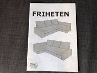 Ikea Corner Sofa Storage Bed Friheten with manual