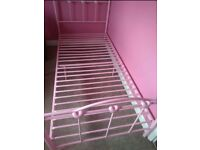 Pink Hearts Single Bed Frame