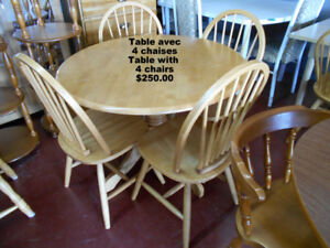 Dining sets of 2, 4, 8, tables