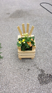 Homemade flower chair