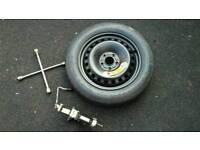 Ford C-Max Space Saver Spare Wheel with Jack and brace.