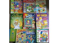 Loads of Simpsons books and magazines