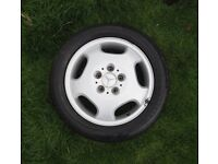 Mercedes A190 (A168) wheel with Goodyear 195/55 R16 tyre