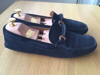 Luxurious Churches blue suede mens loafers, casual shoes 43 / uk9, rrp £320