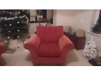 Good quality M&S Reeve Chenille armchair for sale