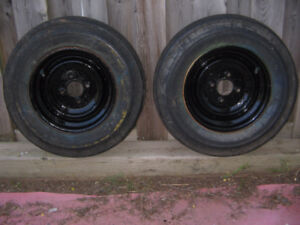 12 in. trailer rims and tires