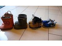 4 pair of kids shoes £25 - EMU, Timberland, Nike,wellingtons