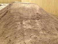 Screened brown top soil