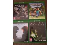 X box one 4 games and 1 controller
