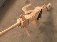 NEGEV Machine-gun out of wood