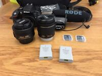Nikon D3300 AF-P 18-55 VR Kit + AF-S f/1.8g 35mm + Others