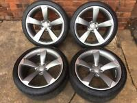 "Genuine Audi A5 / S5 19"" Rotor Alloy Wheels 9Jx19 ET33 A4 A6 A7"