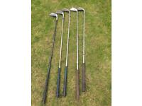 Wilson Donnay mixed golf clubs irons x 5