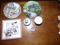 Collectors plates and Wedgewood