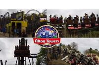ALTON TOWERS TICKETS x 2 (two) Friday 1st SEPTEMBER 2017 £24.99 for PAIR O.N.O.