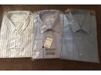 3 x Men's Long Sleeved Shirts - XXL 18 inch Collar