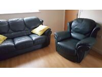 Quick sale! 3 seater leather sofa and armchair